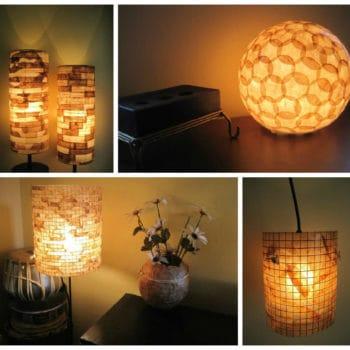 Reused Coffee Filter Lamp