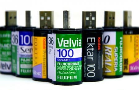35mm Film Usb Flashdrive Recycled Electronic Waste