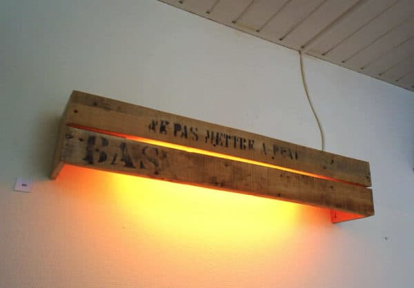 Cratewood Wall-fixture Lamps & Lights Recycled Pallets