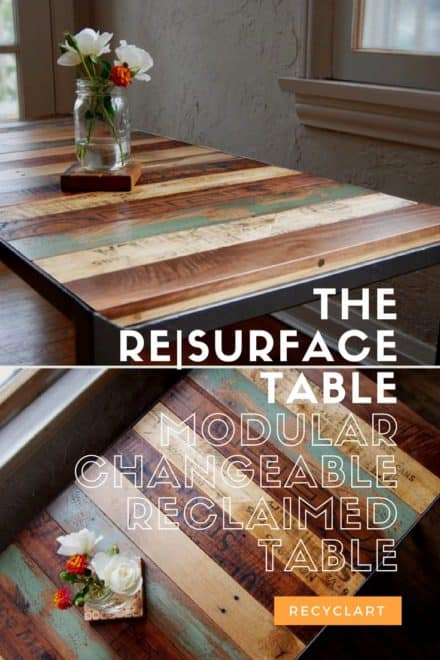 The Re|surface Table: Modular Changeable Reclaimed Table