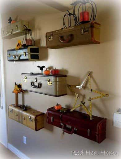 Upcycled Suitcases Into Shelves Do-It-Yourself Ideas Recycled Furniture
