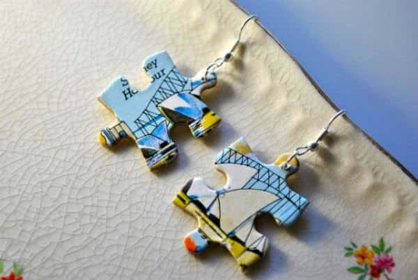 Jigsaw Puzzle Jewellery Accessories Upcycled Jewelry Ideas