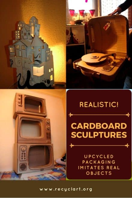 Amazing, Realistic Cardboard Sculptures Imitate Life!