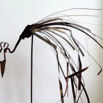 LasArt // recycled metal sculpture