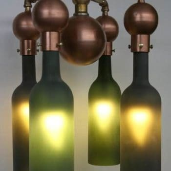 Recycled Wine Bottle Chandelier