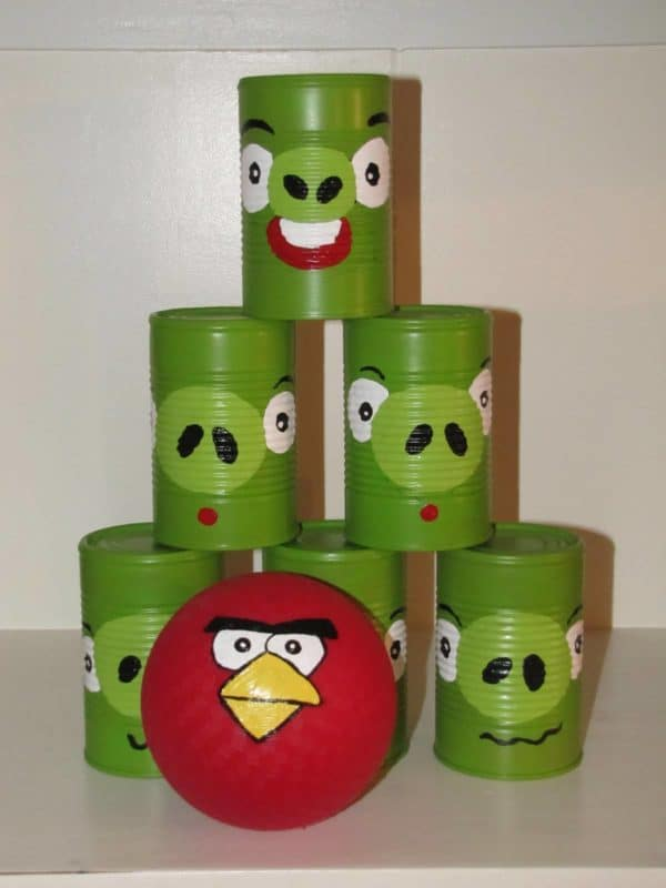 Diy : Angrybirds Can Toss Game Do-It-Yourself Ideas Recycling Metal