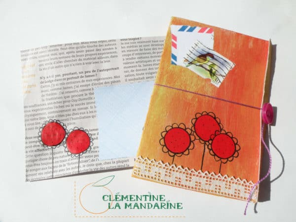 Postcards Made with Scrap Accessories Do-It-Yourself Ideas Recycling Paper & Books