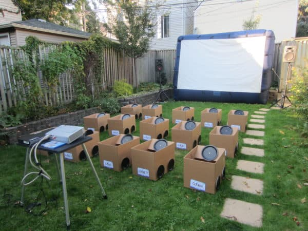 Backyard Drive In Movie Party Recyclart