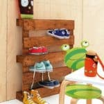 The Most Simple Pallet Shoe Rack