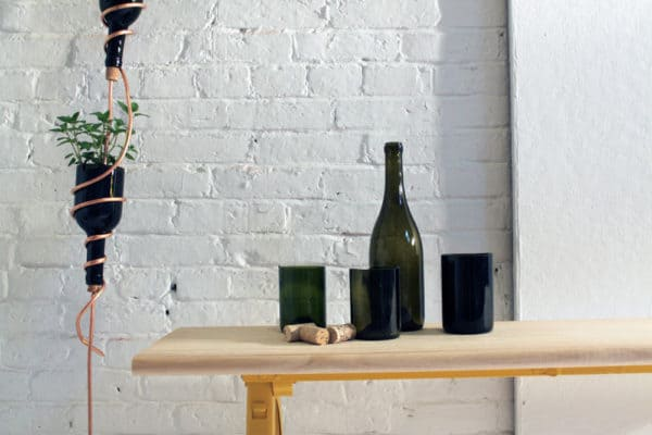 Diy: Wine Bottles Hanging Herb Garden Do-It-Yourself Ideas