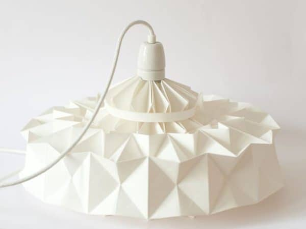 Lamp from Wall Paper Lamps & Lights Recycling Paper & Books