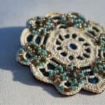 Vintage Crochet Doily Brooch