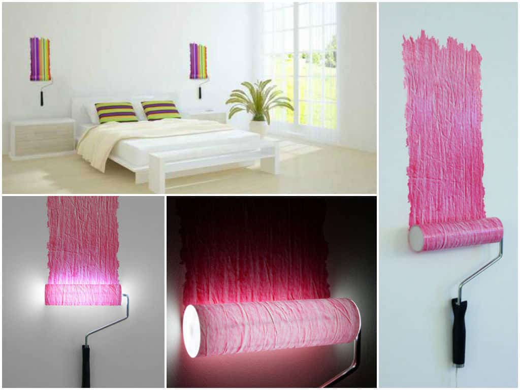 paint roller lamp recyclart