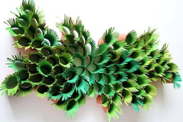 green-ferns-paper-sculpture
