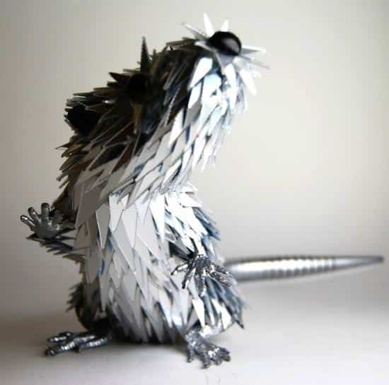 Sculptures from Shattered Cds Recycled Art Recycled Electronic Waste