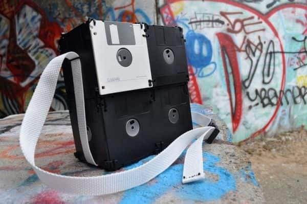 Geeky Floppy Disk Bags Accessories Do-It-Yourself Ideas Recycled Electronic Waste