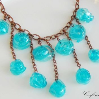 Tutorial - Necklace made with recycled plastic bottle