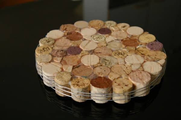 Trivet with Wine Corks! Accessories Recycled Cork Wood & Organic