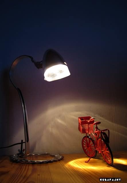 Bicycle Lamp Lamps & Lights Upcycled Bicycle Parts