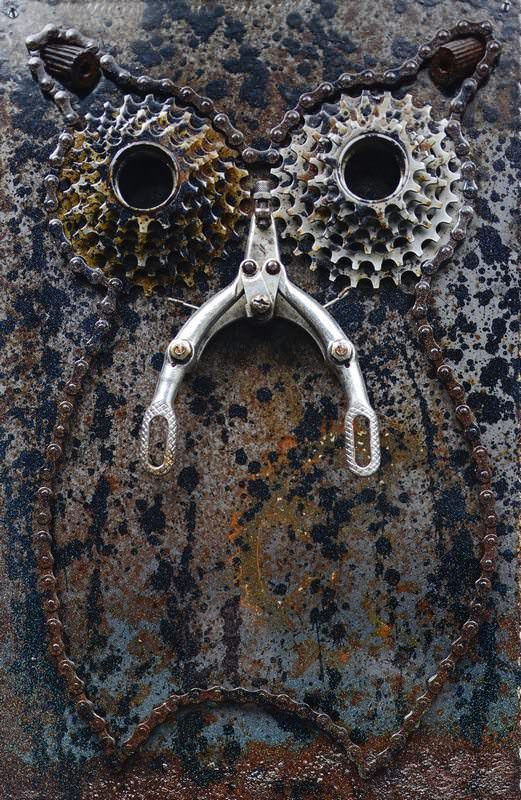 Bike's Art Recycled Art Upcycled Bicycle Parts