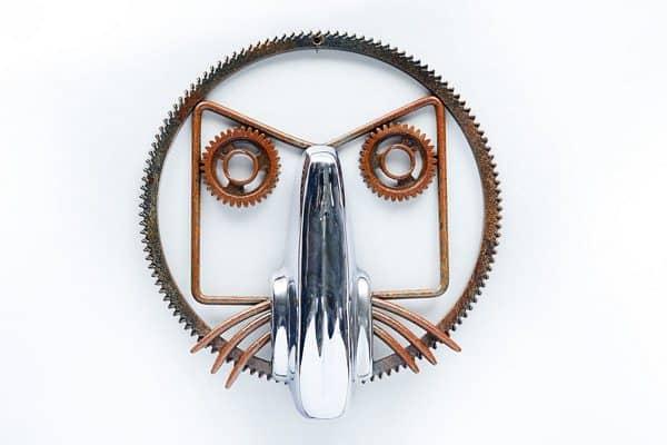 Automotive Art Mechanic & Friends Recycled Art