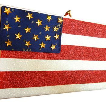 DIY Olympics Edition: Sparkly Patriotic Flag Clutch Out of an Old Video Tape Case