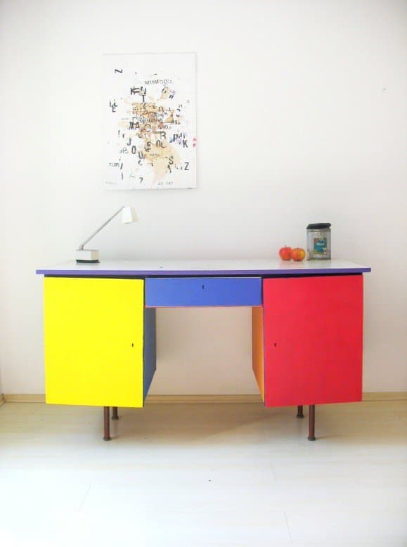 Painted Writing Desk Recycled Furniture