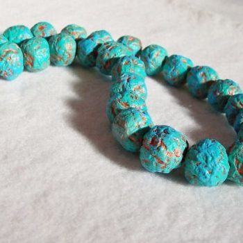 Recycled paper beads necklace