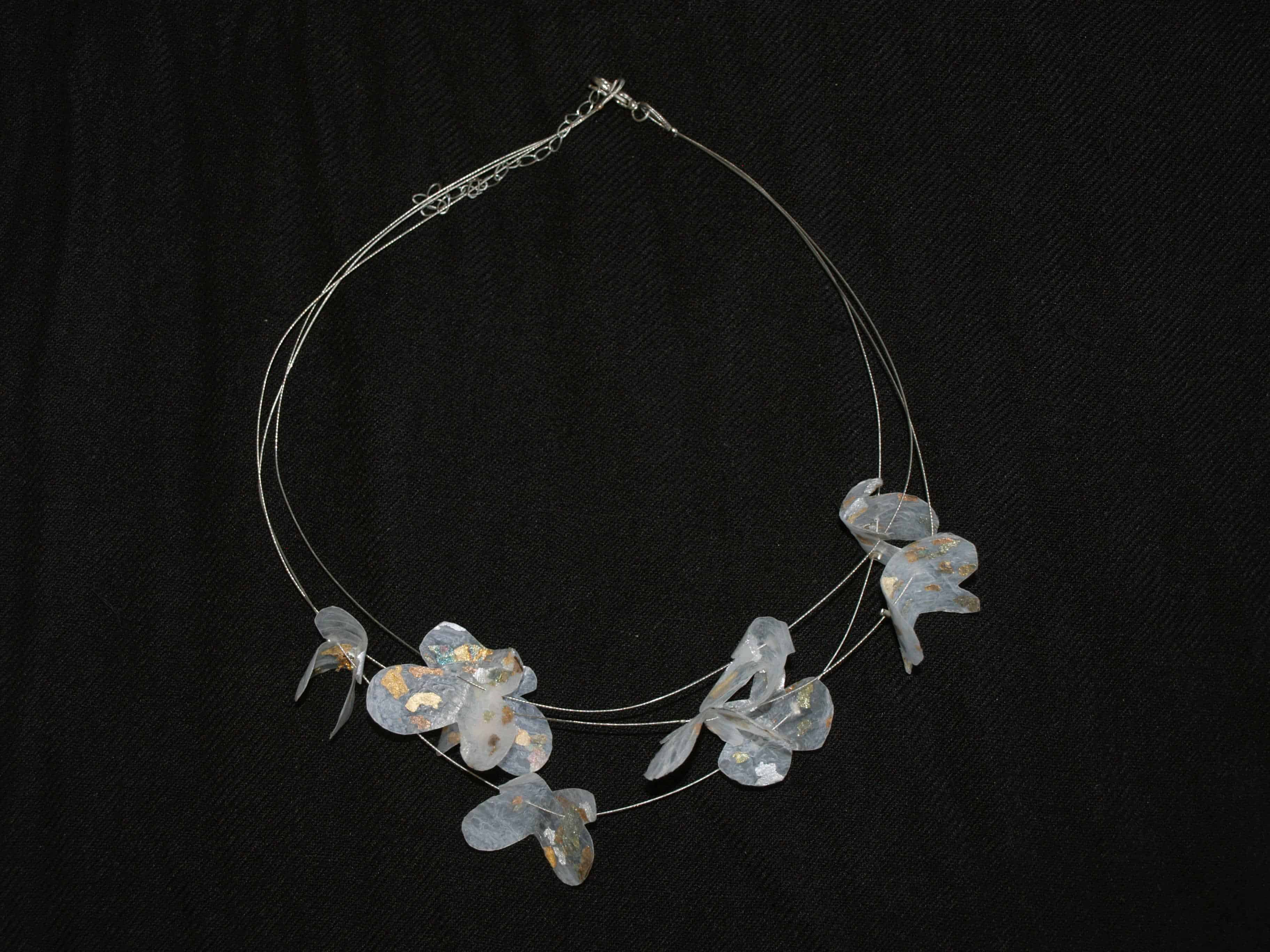 Necklace Made With Recycled Plastic Bags Recyclart