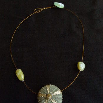 Necklace with sea urchin!