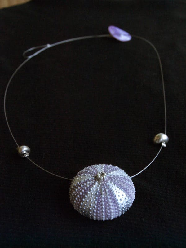Necklace with Sea Urchin! Accessories Upcycled Jewelry Ideas