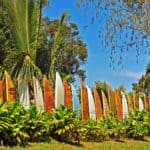 Repurposed Surfboard Fence – Endless Summer