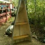Canoe Turned Into Shelf