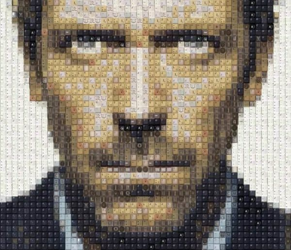 Dr House, Ryan Gosling (And More) Keyboard Portraits Recycled Art Recycled Electronic Waste