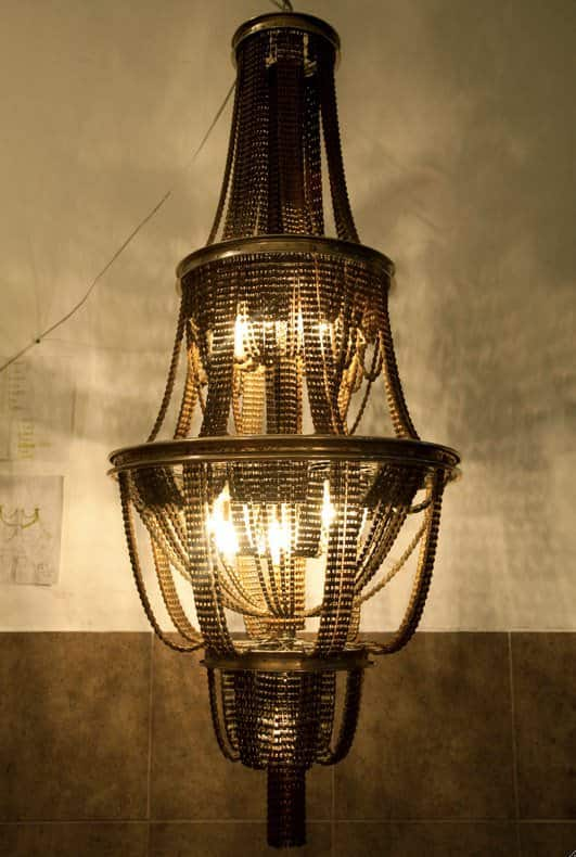 Facaro: Recycled Bicycle Chandeliers Lamps & Lights Upcycled Bicycle Parts