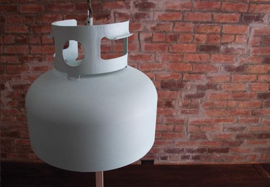 Lamp from Propane Tank