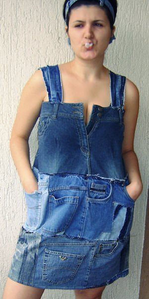 Jeans Pants To Jeans Dress