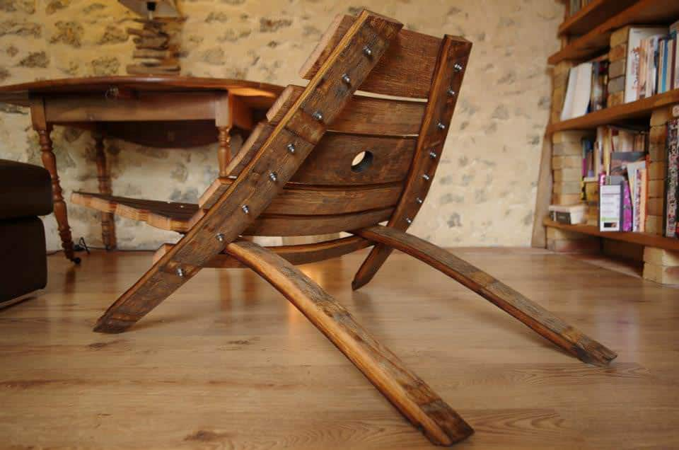 Wine Barrel Chair Recyclart