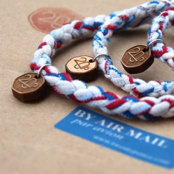 Upcycled Airmail Bracelet