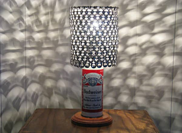 Vintage Beer Can Lamp With Pull Tab Lampshade Recyclart
