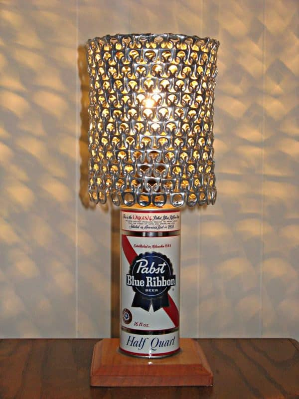 Vintage Beer Can Lamp With Pull Tab Lampshade • Recyclart