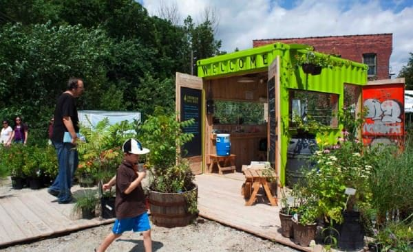 Welcome Hut from Container Home Improvement Interactive, Happening & Street Art