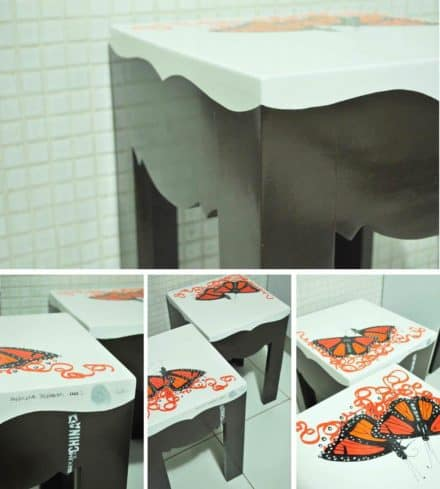 Borboletas Delirantes / Upcycled Tables
