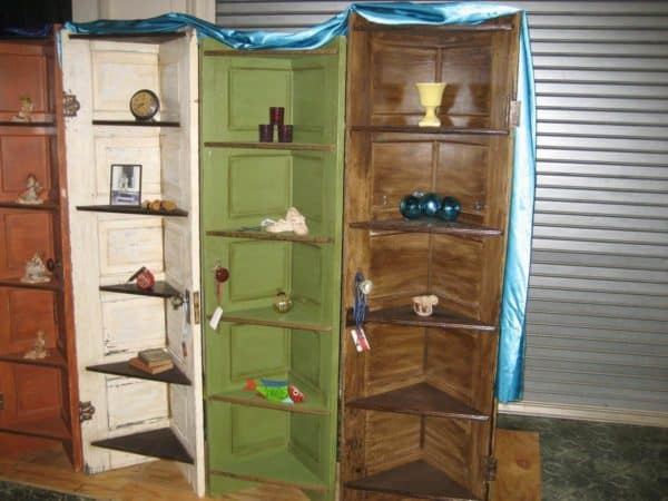 Corner Shelves From Old Doors Recycled Furniture