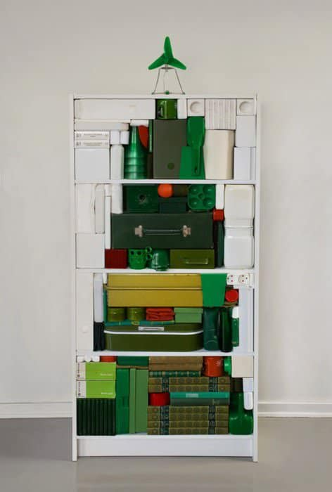 Graphical Christmas Tree Recycled Art