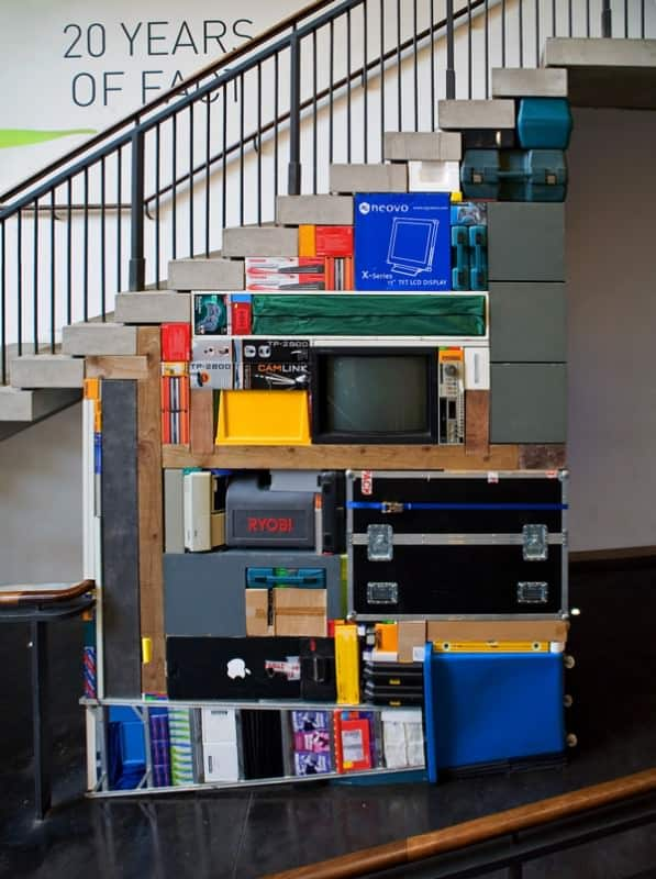 Tetris Art Recycled Art