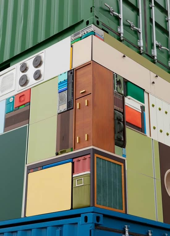 The Move Overseas: Containers & Households Items Sculpture