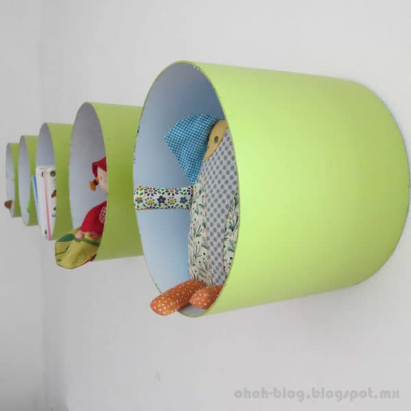 Shelves Made with Paint Bucket Do-It-Yourself Ideas Recycled Packaging