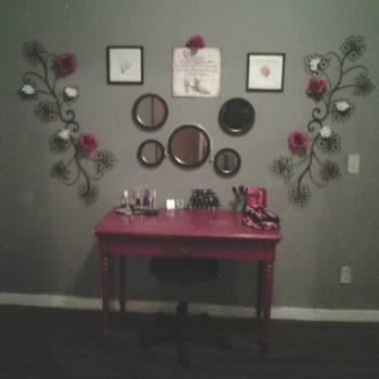 Revamped makeup station