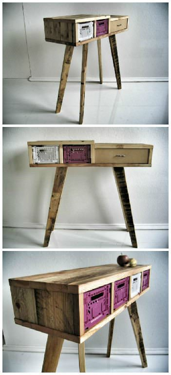 Recycled Wooden Pallet Desk
